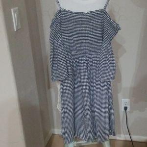 Drop shoulder midi dress